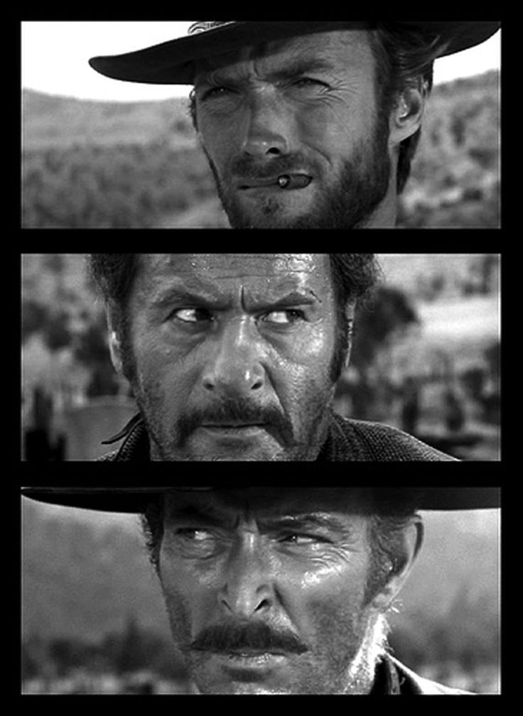 Clint Eastwood, Eli Wallach and Lee Van Cleef - The Good The Bad And The Ugly…