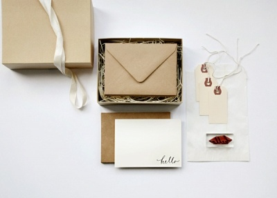 """D.I.Y Stationary Kit with """"Hello"""" stamp. Great gift idea for your DIY friend!"""