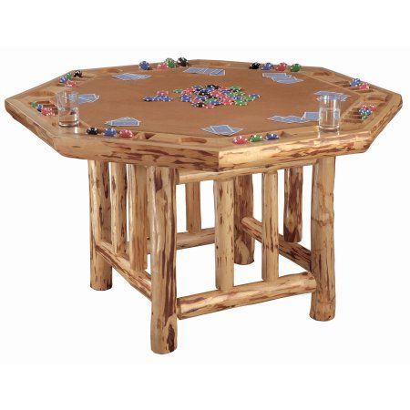 Octogon Poker Table, Brown
