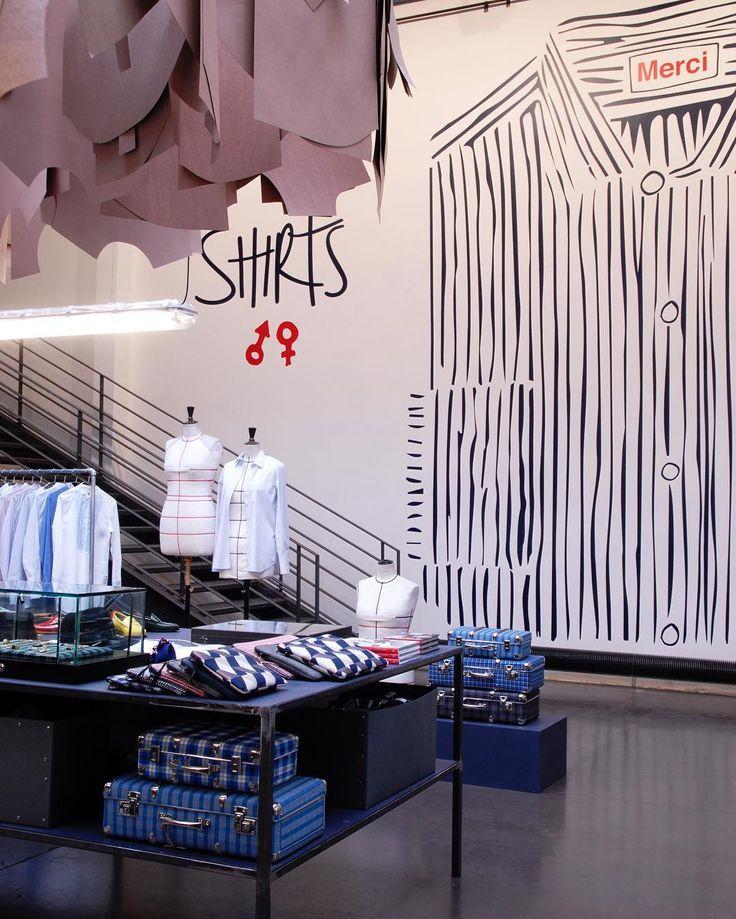 """MERCI, Paris, France, """"La chemise est sous toutes ses coutures durant l'événement Shirts"""", (La Shirt Event Autumn/Winter), pinned by Ton van der Veer"""