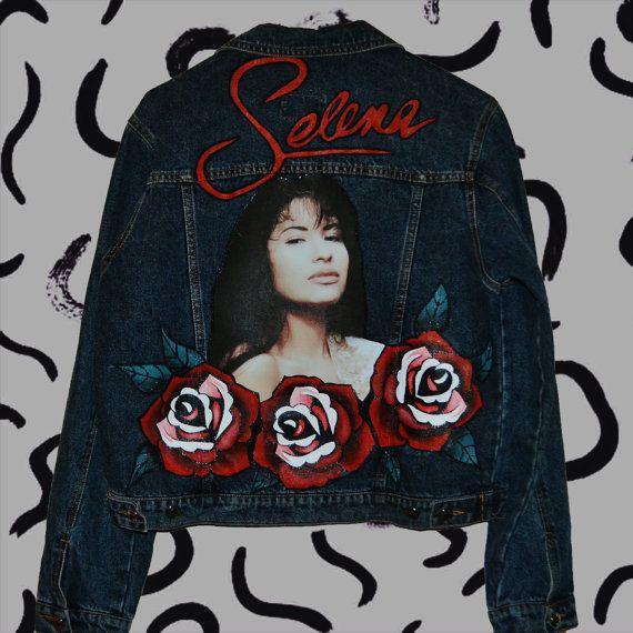 Selena Quintanilla vintage denim jacket by PurpleTearsGirlsShop