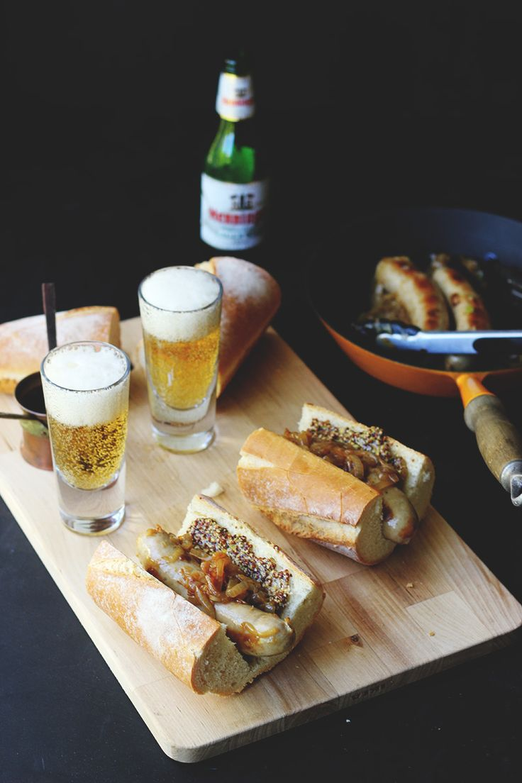 Beer-Cooked Bratwurst | The Sugar Hit