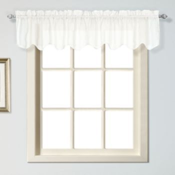 Scalloped White Valances United+Curtain+Co.+Charleston+Valance+ +51