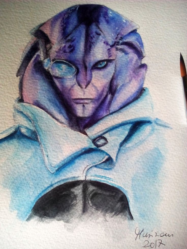 Jaal - ME Andromeda,watercolors and ballpoint pen by Musiriam