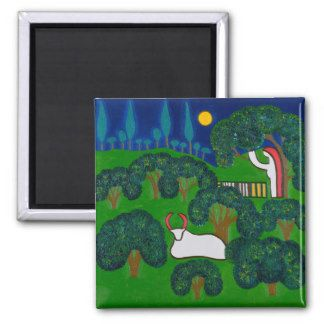 Printemps en Burgundy 2013 Square Magnet