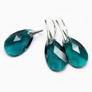 Set bijuterii Pear Emerald