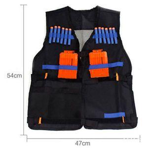 Tactical Vest w/Storage Pocket Pockets for Nerf N-Strike Elite Gifts For Kids