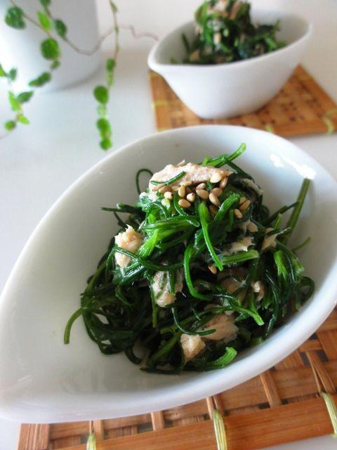 おかひじきのツナマヨ和え。 | 美肌レシピ
