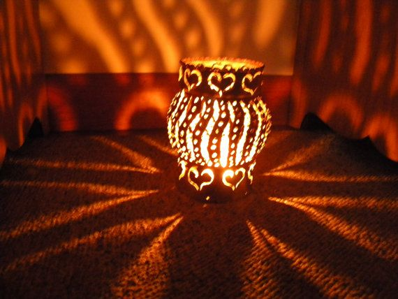 Big Hearts Candle Luminary by 2ndChanceMetalArt on Etsy, $15.00