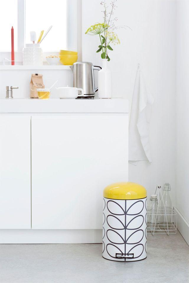 poubelle retro relooking dco relooking facile ou maison relooker cuisine cuisine 12 jaune vif dcoration urbaine intrieur appartement - Poubelle De Cuisine Jaune