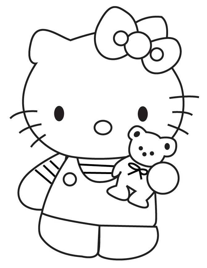 Teddy Bear Color Page - AZ Coloring Pages | Teddy bear ...