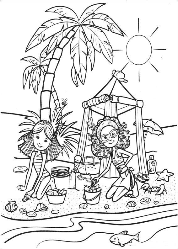 Printable groovy girls coloring pages ~ 18 best images about long cardrive entertainment on ...