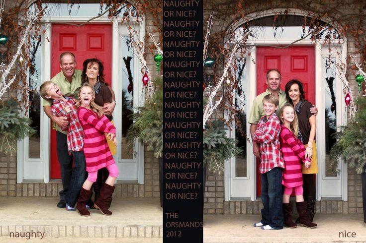 Family Christmas card idea.