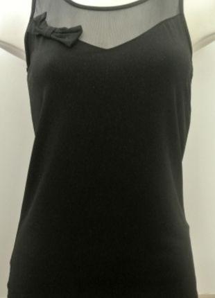 À vendre sur #vintedfrance ! http://www.vinted.fr/mode-femmes/debardeurs/24597936-debardeur-avec-jeu-de-transparence-noeud-et-paillette