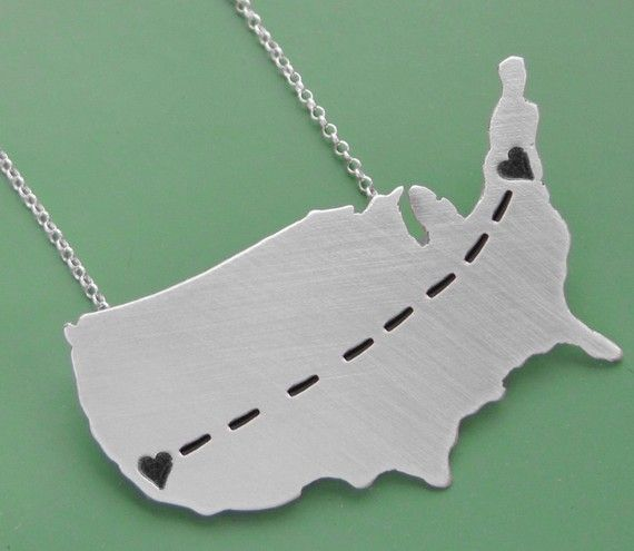 long distance relationship necklace...@Courtney North
