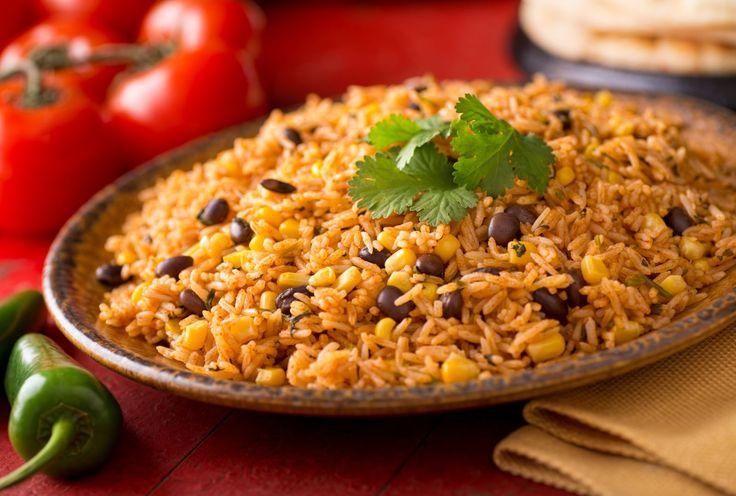 Mexická čierna fazuľa s ryžou