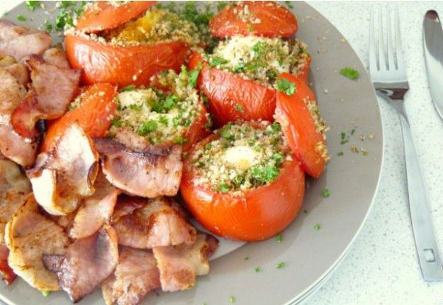 Eggs in Tomatoes - Real Recipes from Mums
