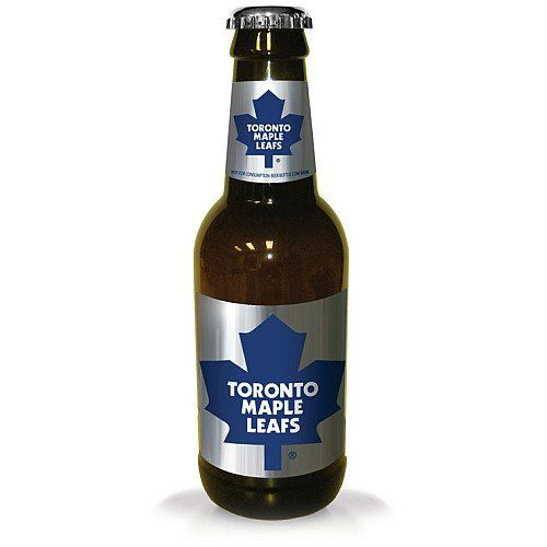 NHL Toronto Maple Leafs Beer Bottle Bank by Mustang. $7.20. Save all your loose change with the Bottle Coin Ban. Standing 14 inch tall this bank has plenty of room and displays your favorite team logos.