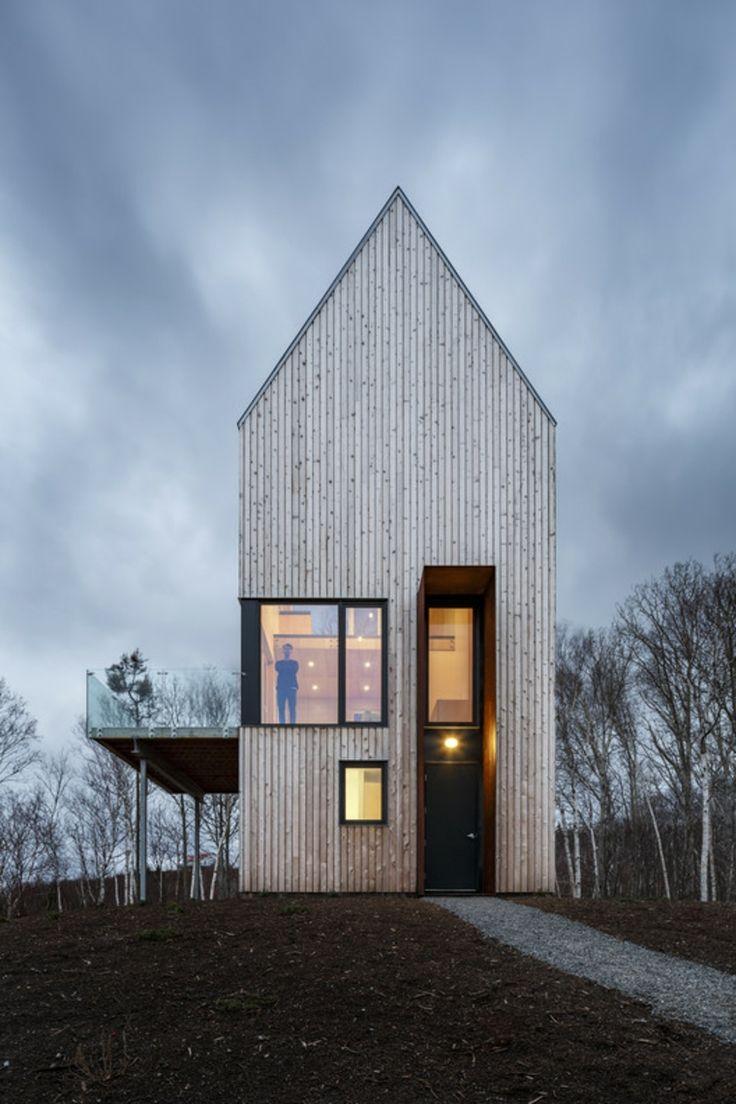 Moderne Architektur – eine Kabine mit Blick auf die kanadischen Küsten