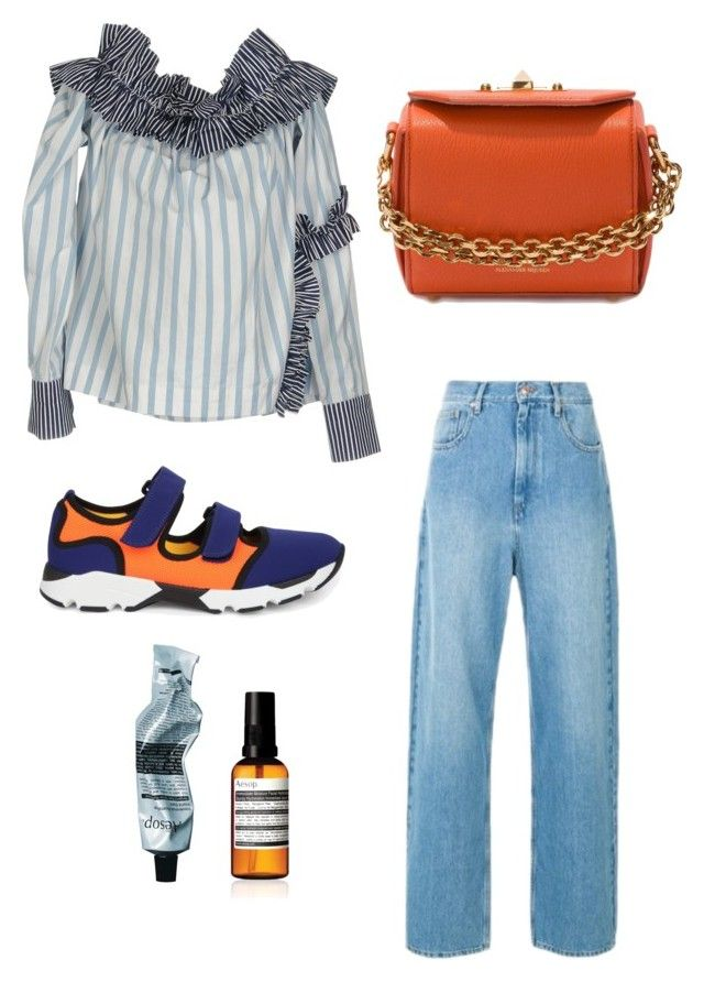 """""""Blue and Orange"""" by oheytita on Polyvore featuring Alexander McQueen, MSGM, Étoile Isabel Marant, Marni and Aesop"""