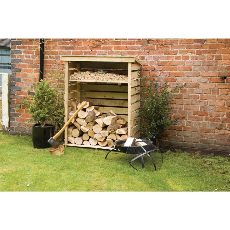 The Firewood Storage Shed is perfect for making sure your wood stays dry and aired. Made from pressure treated timber, the shed features an open front design to enable quick, easy access and includes a shelf for storing different sized logs and kindling.