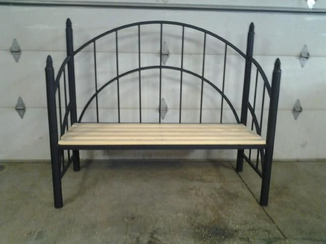 $250.00 - Bench made from old bed frame, wood is sugar pine with no knots.