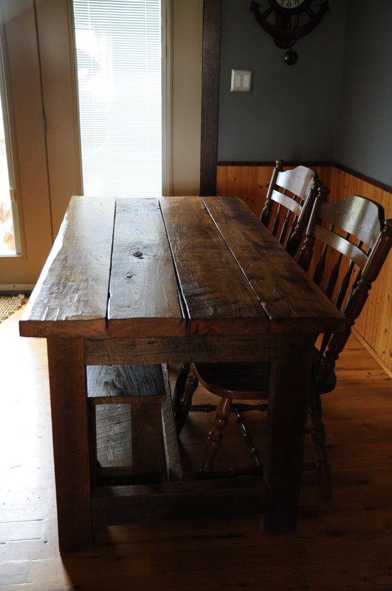 Reclaimed Barn Board Table by OYKNOT on Etsy, $925.00
