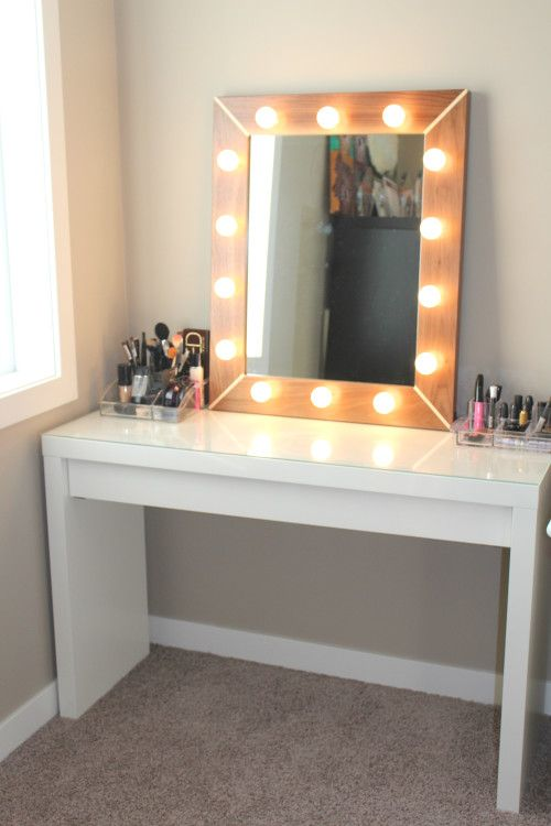 I want a mirror and lighting like this for doing my makeup.