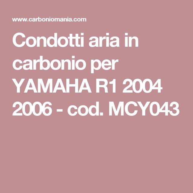 Condotti aria in carbonio per YAMAHA R1 2004 2006 - cod. MCY043