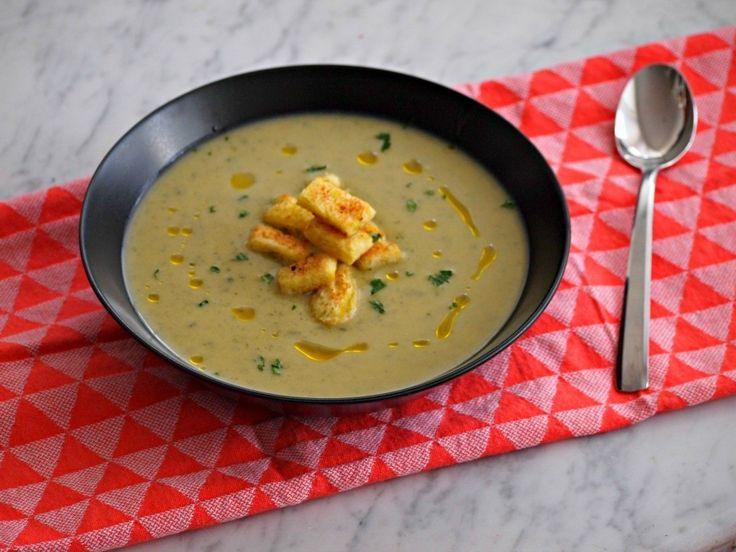 Romige courgette soep met Boursin