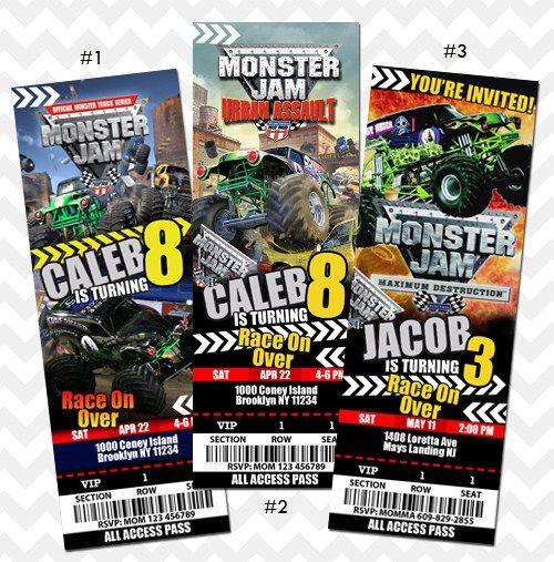 Monster Jam Invitation
