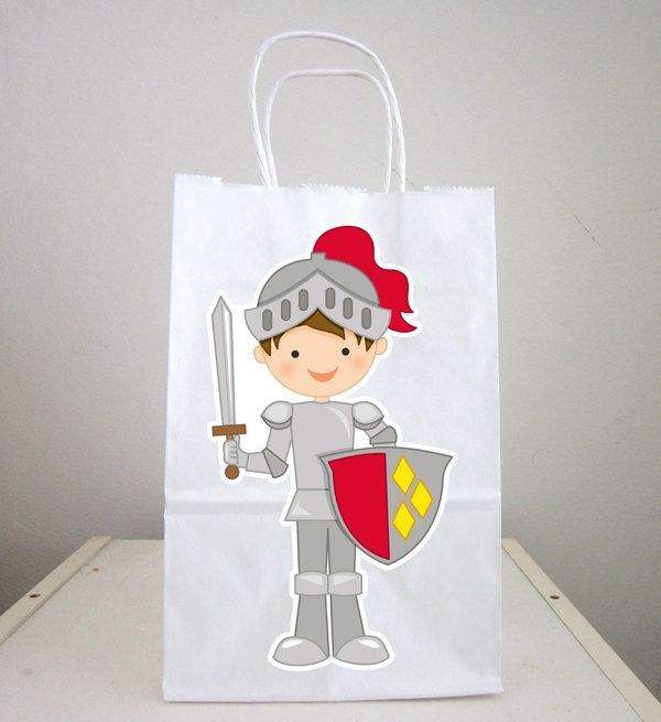 Knight Goody Bags, Knight and Shining Armor Bags by CraftyCue on Etsy