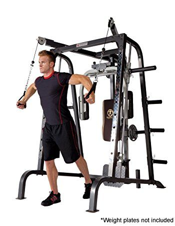 Marcy Smith Cage Workout Machine Total Body Training Home Gym System With Linear Bearing MD 9010G Machines Sports Outdoors
