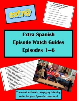 This product includes watch guides that have two special activities such as a popular quotes activity from the show on each watch guide. This product includes questions that go along with each episode so students can follow along and test their listening comprehension skills.