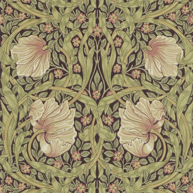 The Original Morris & Co - Arts and crafts, fabrics and wallpaper designs by William Morris & Company | Products | British/UK Fabrics and Wallpapers | Pimpernel (DM6P210387) | Archive Wallpapers