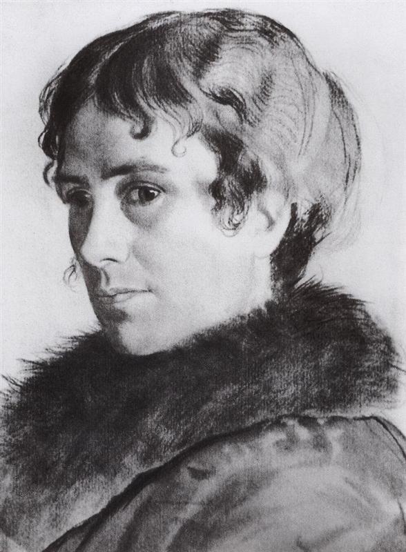Portrait of Y.E. Kustodieva - Boris Kustodiev, 1925