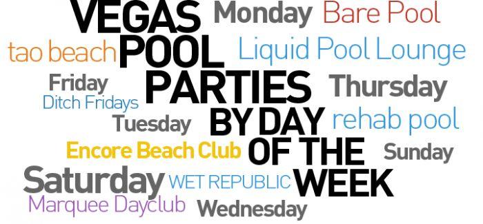 Best Vegas Pool Parties by Day of the Week