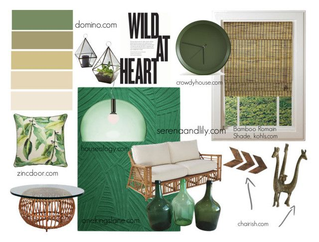 """wild"" by estherkiss on Polyvore featuring interior, interiors, interior design, home, home decor, interior decorating, WALL, Atipico, Jaipur and Kartell"