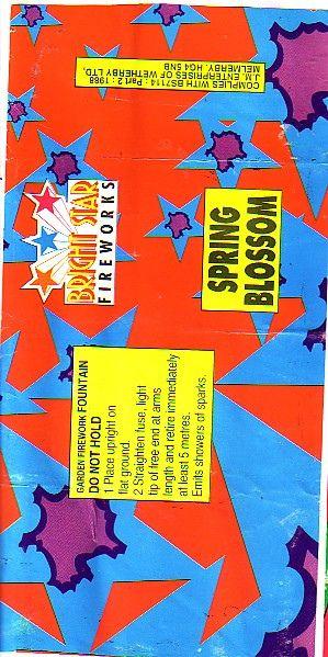 Old Bright Star Fireworks Label - spring blossom | Epic Fireworks | Flickr