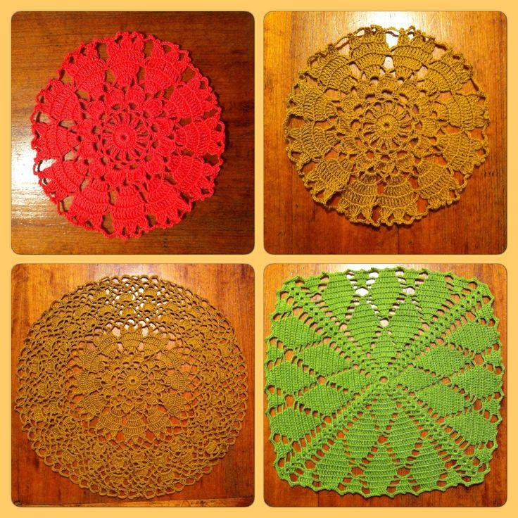 Crochet: Más carpetas de mesa / Crochet: More doilies