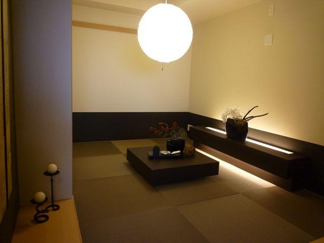 インテリアコーディネート 和室|ローボードから出る灯りが雰囲気ある和室にしてくれます。