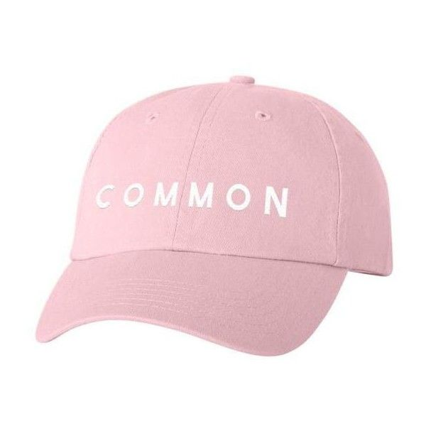 COMMON CULTURE PINK BASEBALL HAT ($25) ❤ liked on Polyvore featuring accessories, hats, embroidered hats, adjustable hats, pink ball cap, embroidery hats and pink baseball hat