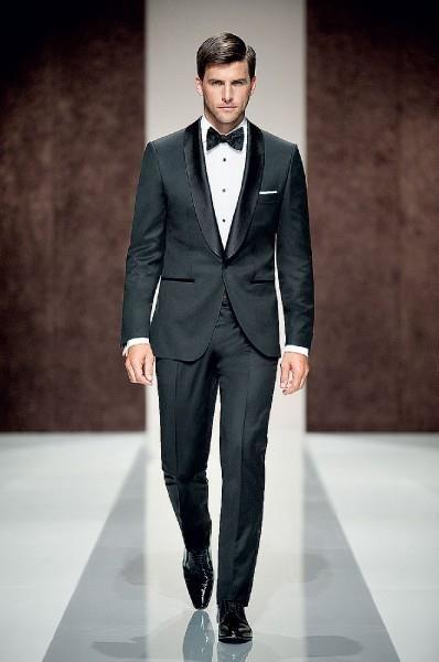 Черный костюм на свадьбу для девушки