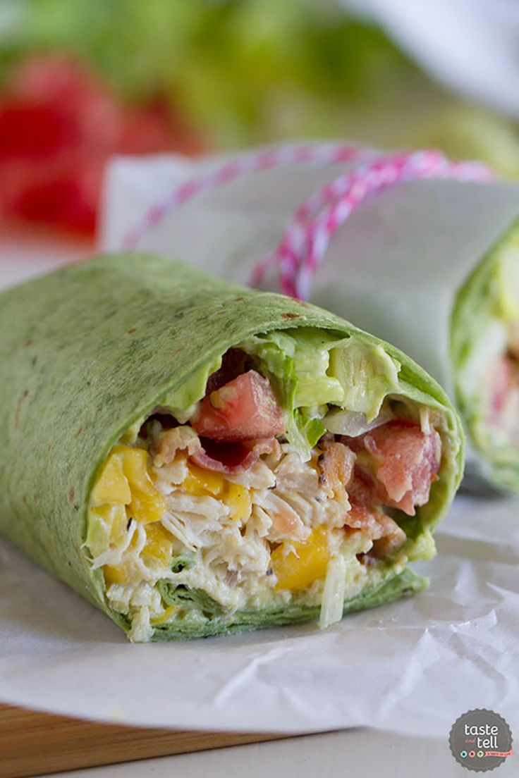 9. California Chicken Club Wrap #lunch #wraps #recipes http://greatist.com/eat/healthy-lunch-ideas-quick-and-easy-wraps