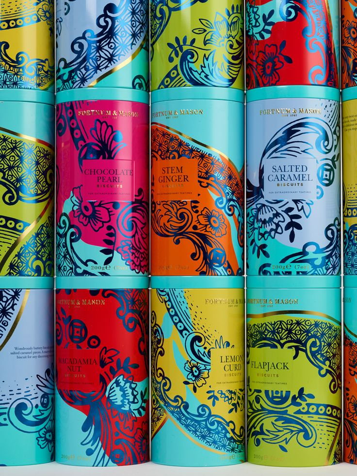 Design Bridge has designed new packaging for Fortnum & Mason's core range of biscuits, using decorated ceramics as inspiration for the illustrations.