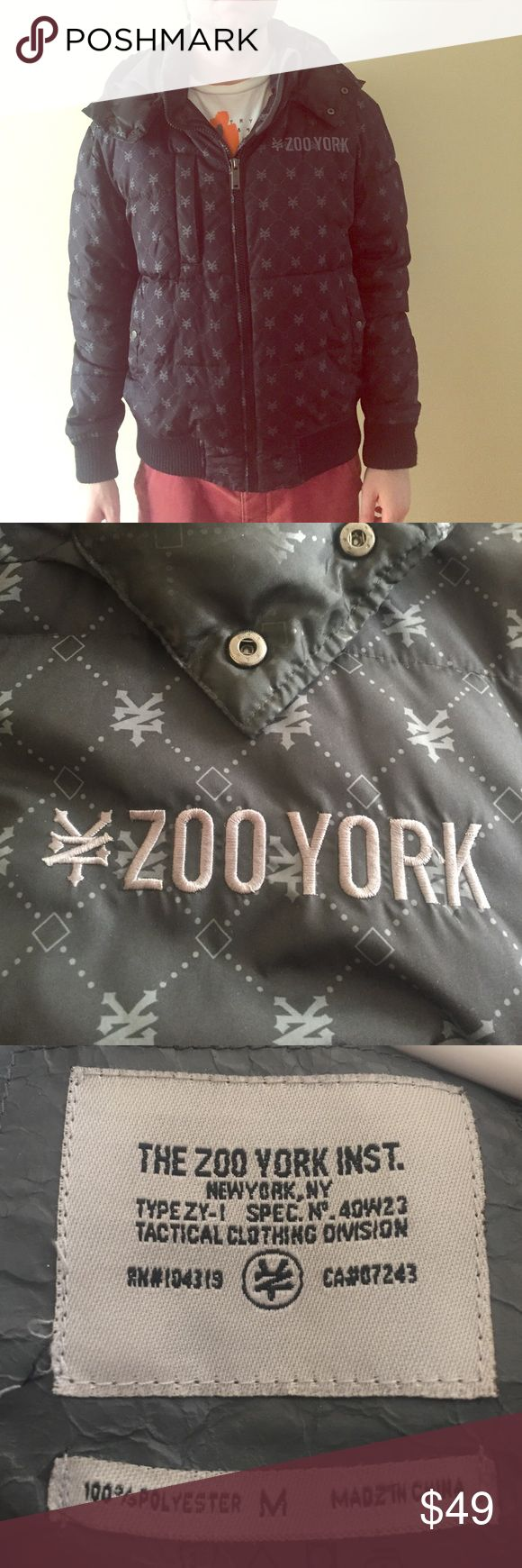 Zoo York black puffer jacket Super comfortable & warm puffer jacket from ZOO YORK. Detachable hood,  one breast pocket with zipper and two pockets by the hands that button. Zoo York Jackets & Coats Puffers