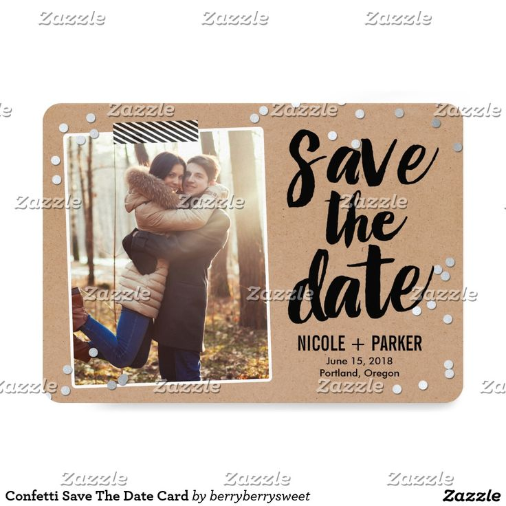 zazzle wedding invitations promo code%0A Confetti Save The Date Card   Beautiful wedding invitations  Shop the  hundreds of wedding and