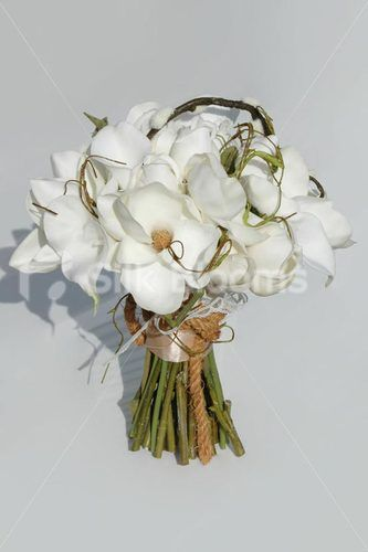 Artificial White Real Touch Magnolia AND Calla Lily Bridal Wedding Bouquet | eBay $185 (including postage)