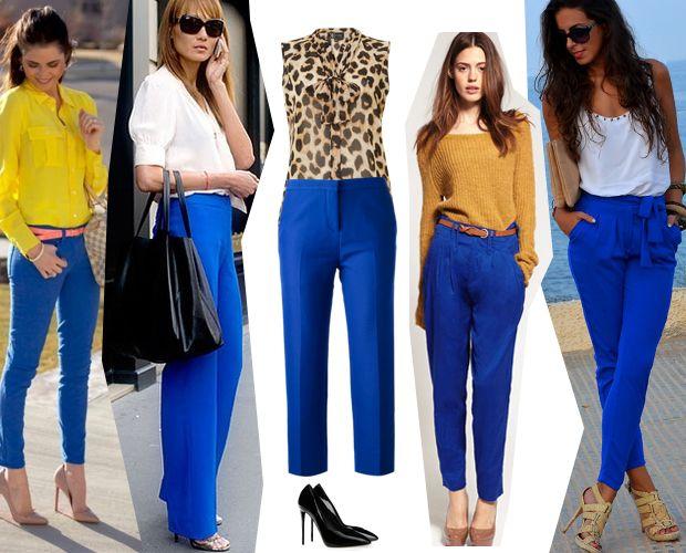 сочетание цветов синие брюки - Поиск в Google
