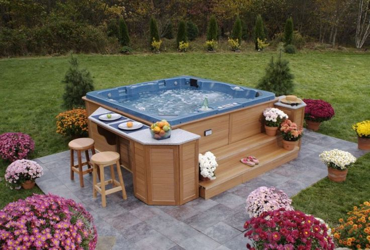 Choosing The Right Outdoor Hot Tub Exterior Pinterest The O 39 Jays Patio And Hot Tubs